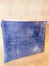 Load image into Gallery viewer, Denim Beauty Zipper Pouch
