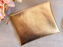 Load image into Gallery viewer, Golden Zipper Pouch