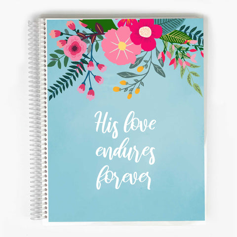 Guided Prayer Journal - Blue Garden Party Cover
