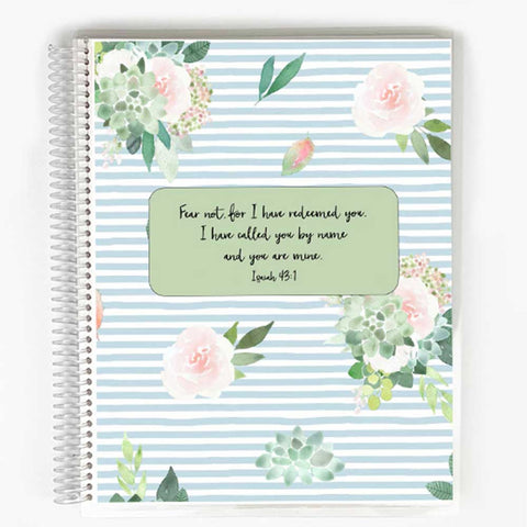 Guided Prayer Journal - Blue Succulents Cover