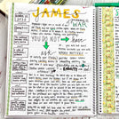 Bible Study Journal - Living Coral Cover