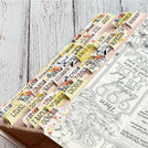 Catholic Bible Tabs - Rose Gold and Yellow Florals