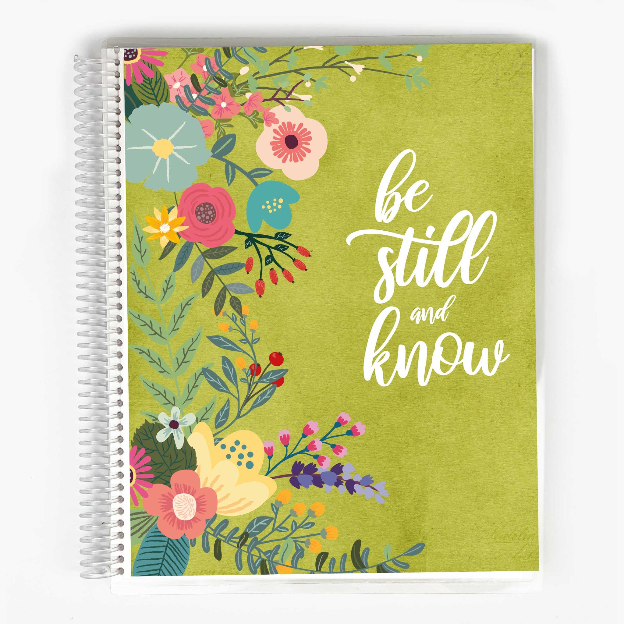 Bible Study Journal - Green Garden Party Cover