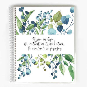 SOAP Bible Study Journal - Blue & Green Leaves Cover