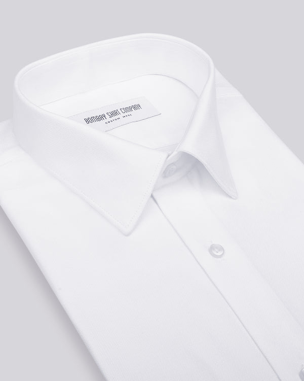 Wrinkle Resistant White Pinpoint Shirt