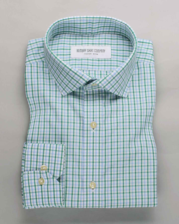 Sage Green Checks Shirt