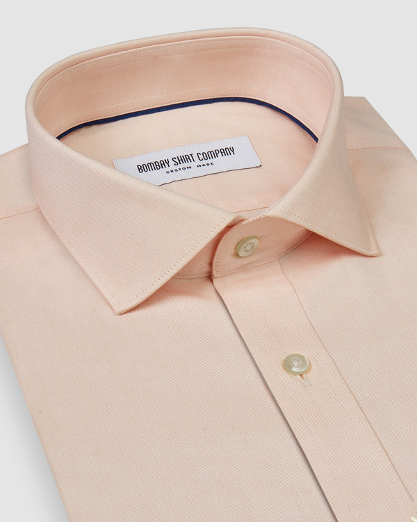 wrinkle resistant peach oxford