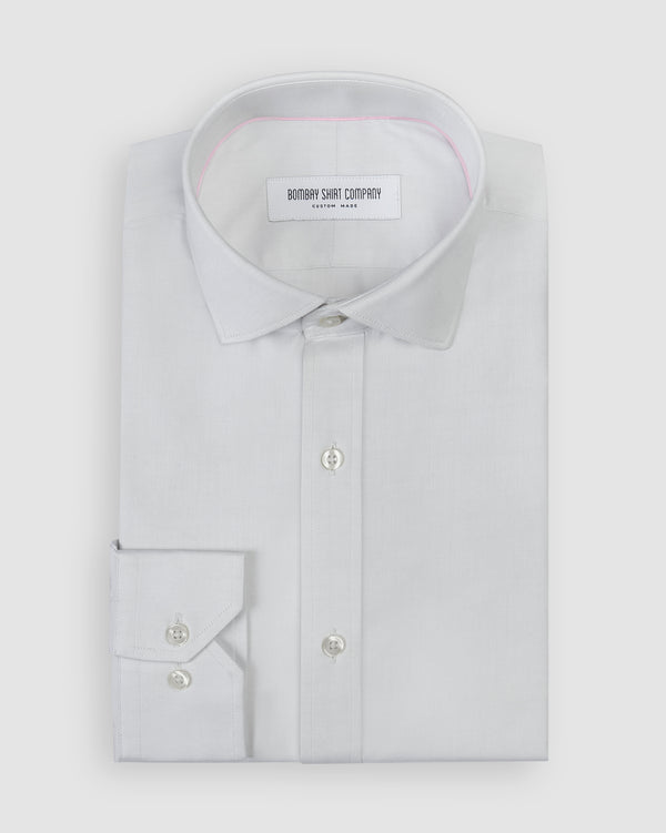 wrinkle resistant premium light grey oxford