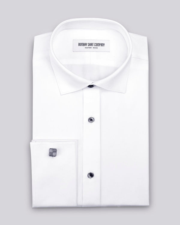 Monti Clean White Satin Shirt
