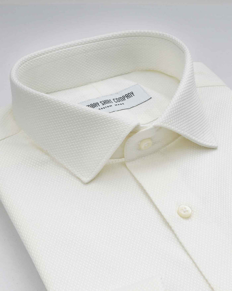 Monti Antique Off White Dobby Shirt