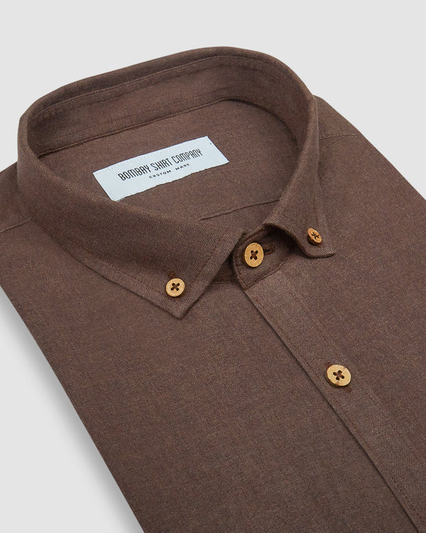 mocha brown brushed twill