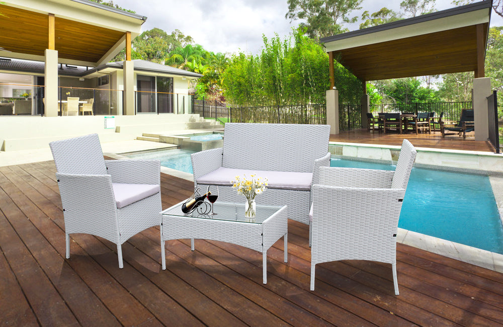 Rattan Tables and Chairs