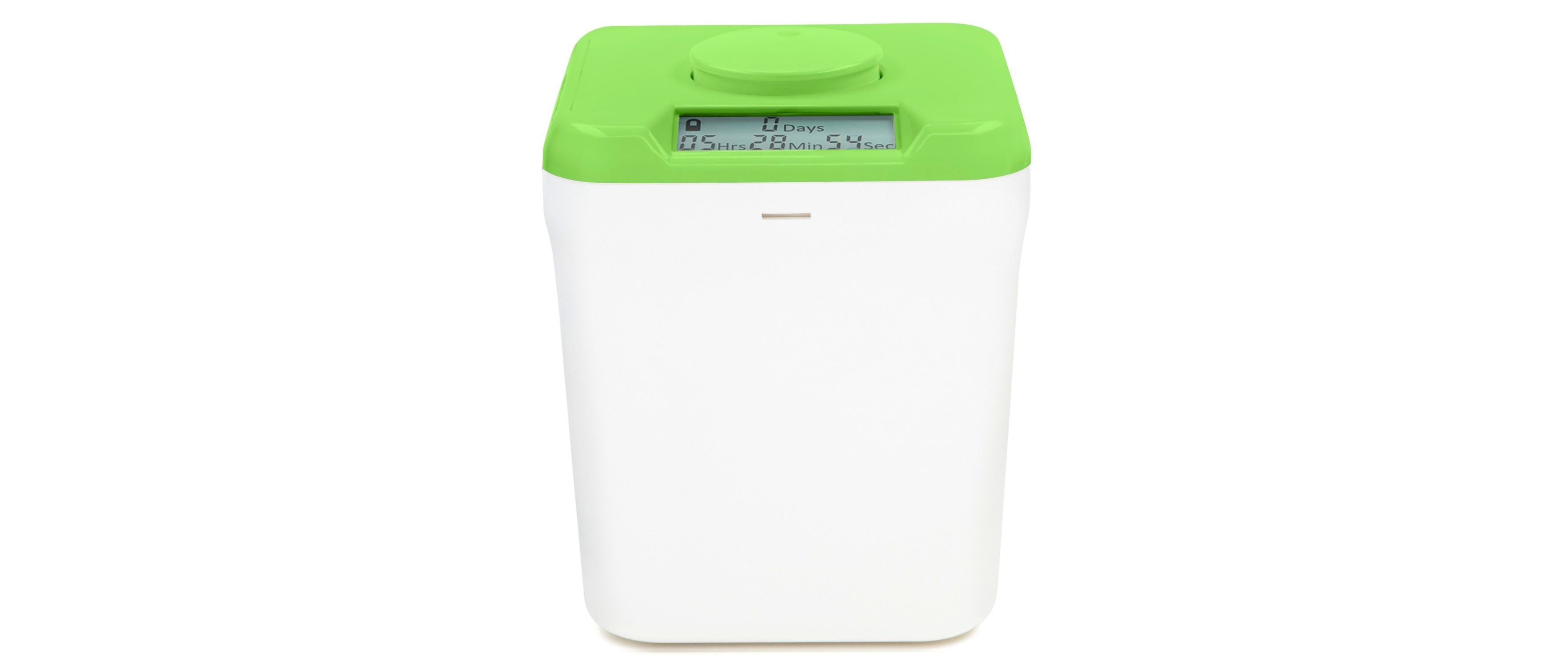 Green Kitchen Safe with White Base