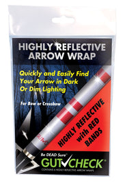 Gutcheck® Indicators Highly Reflective Arrow Wrap - Red