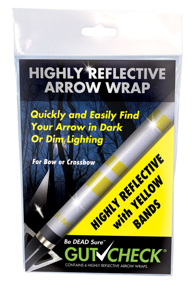 Gutcheck® Indicators Highly Reflective Arrow Wrap - Yellow