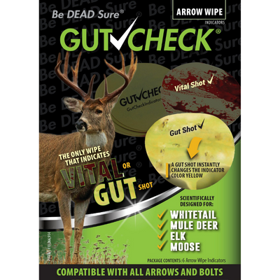 Gutcheck® Indicators Whitetail, Mule Deer, Elk, Moose Arrow Wipe Indicator