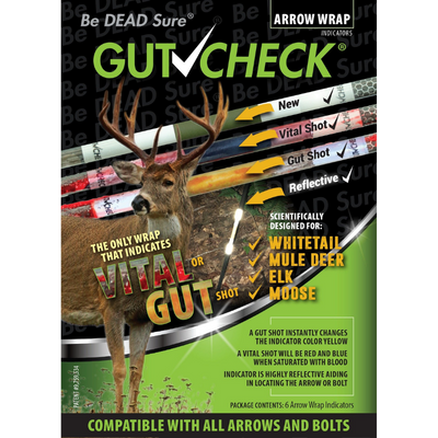 Gutcheck® Indicators Whitetail, Mule Deer, Elk, Moose Arrow Wrap Indicator