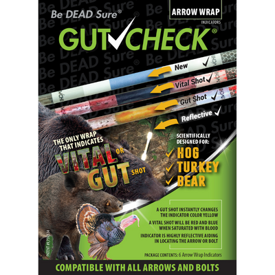 Gutcheck® Indicators Hog, Turkey, Bear Arrow Wrap Indicator