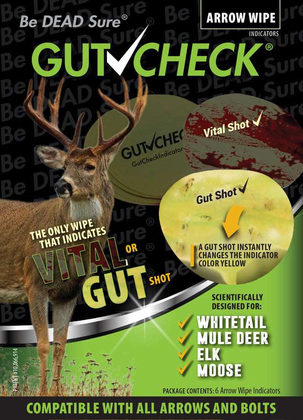 Gutcheck Indicators® Whitetail, Mule Deer, Elk, Moose Arrow Wrap + Wipe Bundle