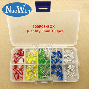 Details about  /Light Emitting Diodes 5 Colors Electronic Components 3mm 5mm Assorted Color