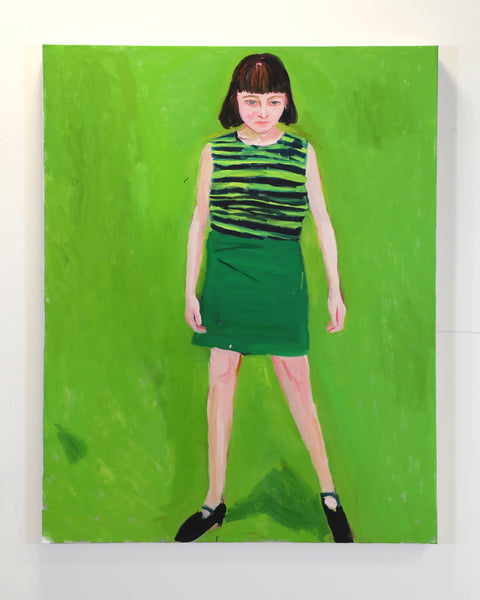 (Sung Jik Yang) Woman with Green Background