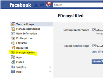 How to add someone as an admin in facebook
