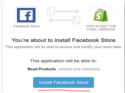 Adding facebook store in Shopify