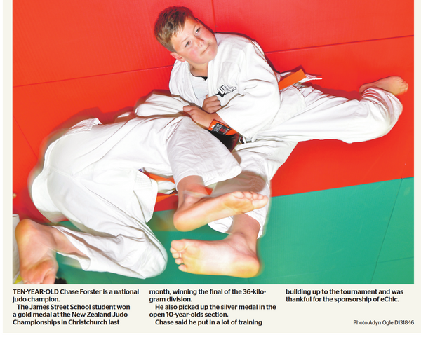 Our young Judo champion in the news again
