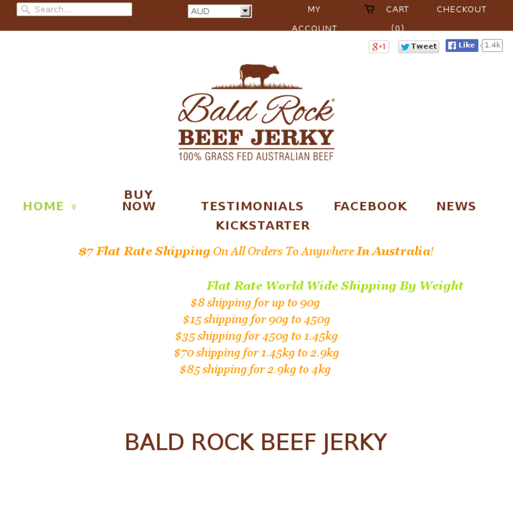 Bald Rock Beef Jerky