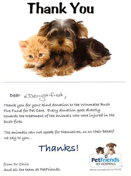 Pet Friends Bush Fire Appeal