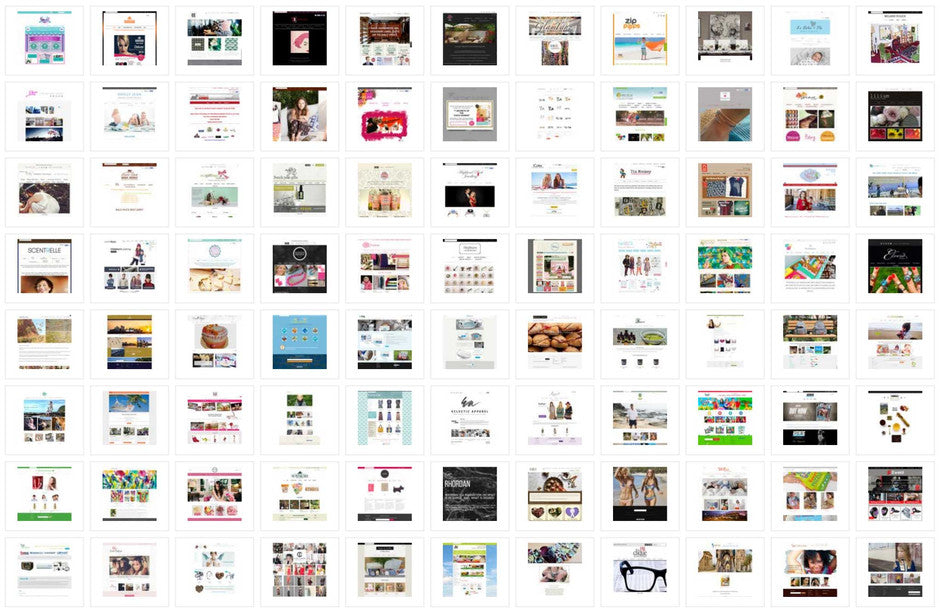 Icons of eChic client's websites