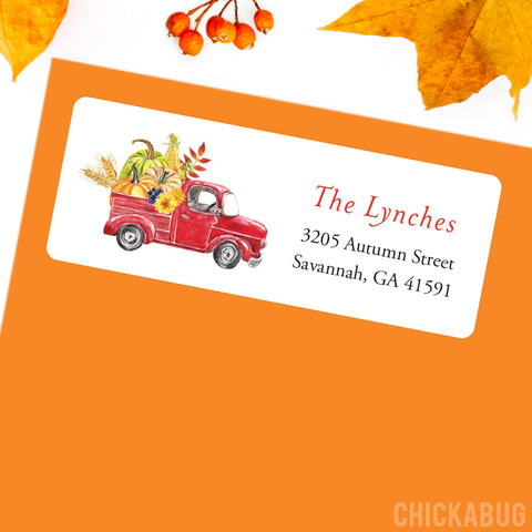 Fall labels from Chickabug