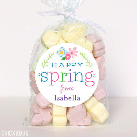 Spring labels from Chickabug