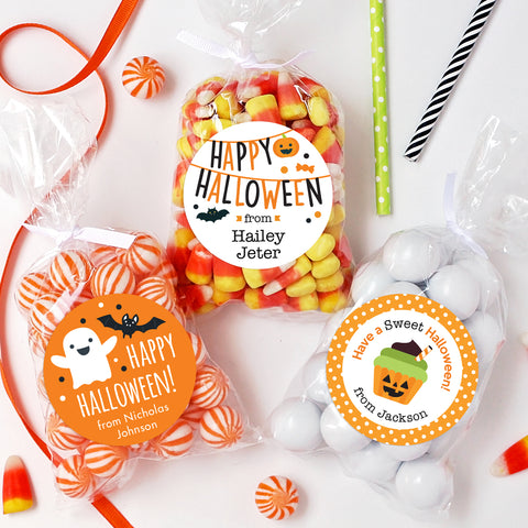 Halloween labels from Chickabug