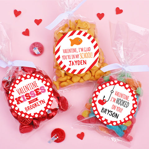 Valentine's Day labels from Chickabug