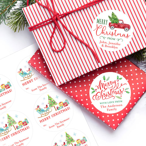 Christmas labels from Chickabug