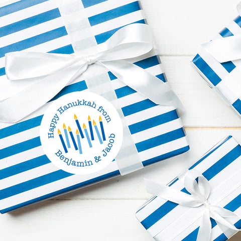 Hanukkah labels from Chickabug