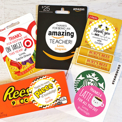 Teacher appreciation gift labels from Chickabug
