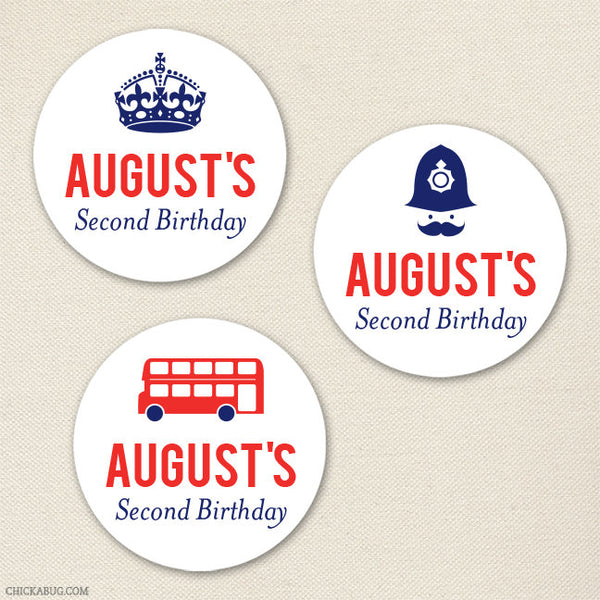 British Birthday Stickers