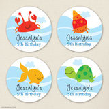 Under the Sea Birthday Stickers