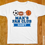 "Sports Birthday ""Fan Club"" Iron-On - Blue"