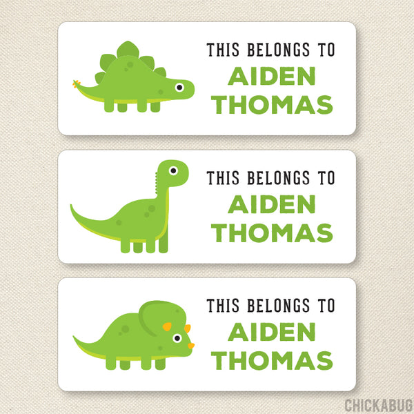 "Dinosaurs ""This Belongs To"" Labels"