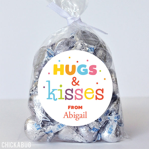 """Hugs and Kisses"" Confetti Stickers"