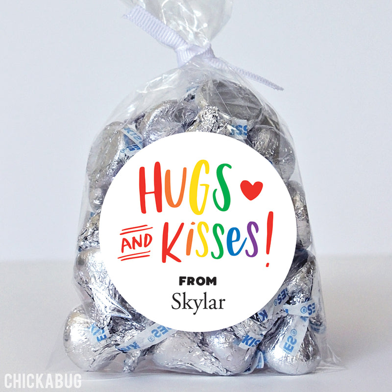 """Hugs and Kisses"" Colorful Stickers"