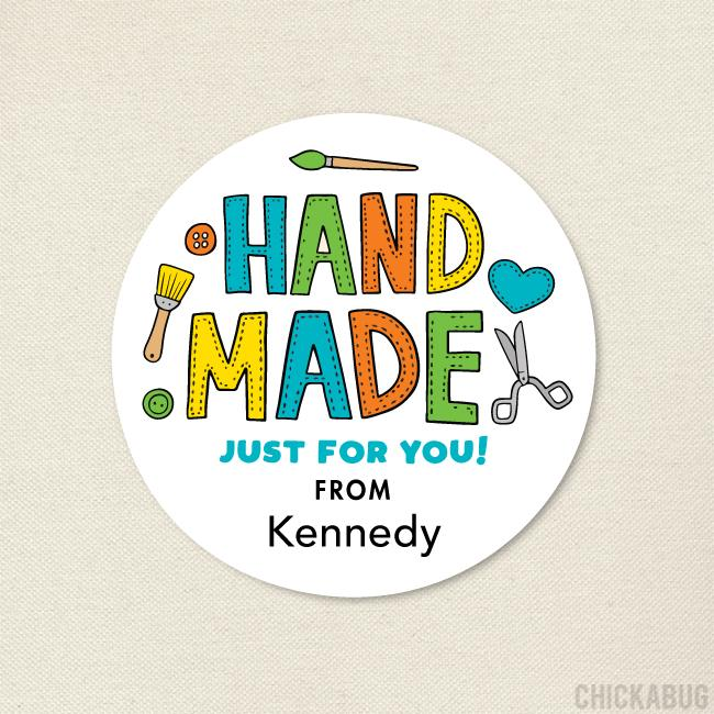 "Crafty ""Hand Made"" Stickers"
