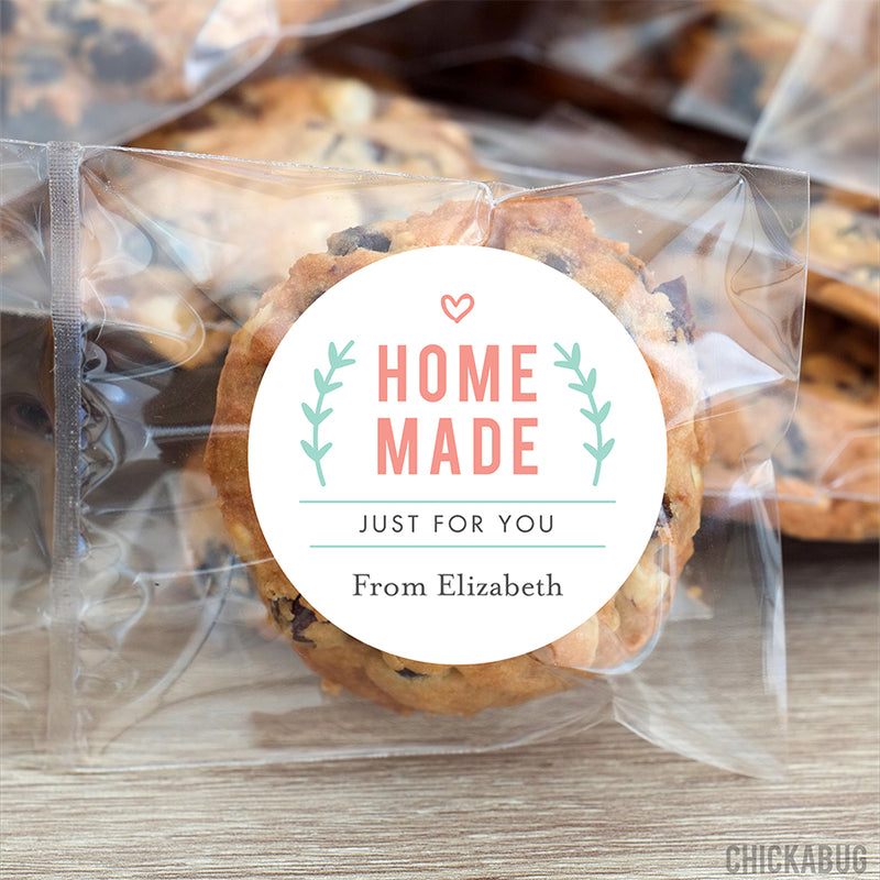 Home Made Just For You Stickers