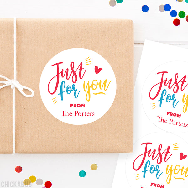 """Just For You"" Gift Labels"