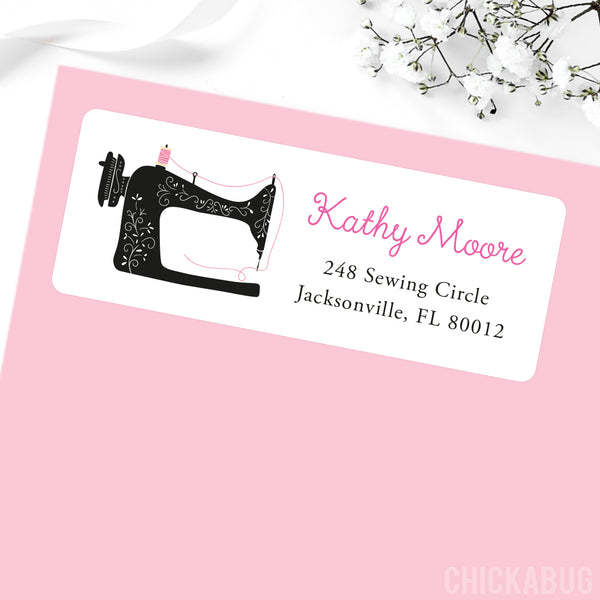 Sewing Machine Address Labels
