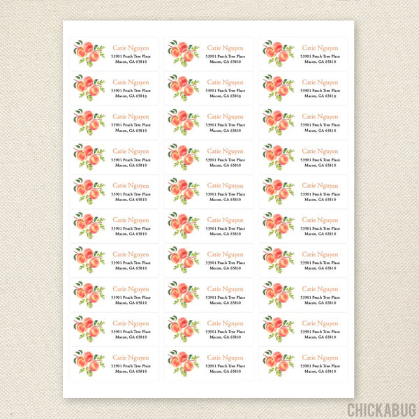 Peaches Address Labels