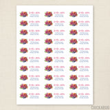 Autumn Floral Address Labels